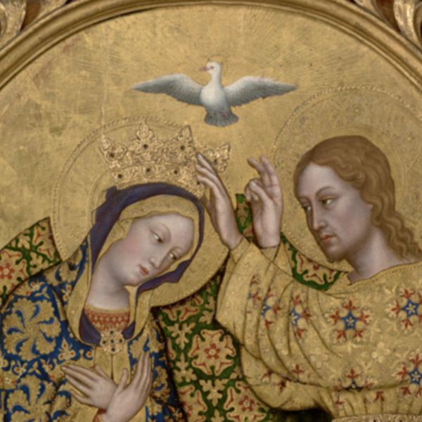 Gentile da Fabriano. Detail of Coronation of the Virgin, c. 1420. Courtesy of J. Paul Getty Museum