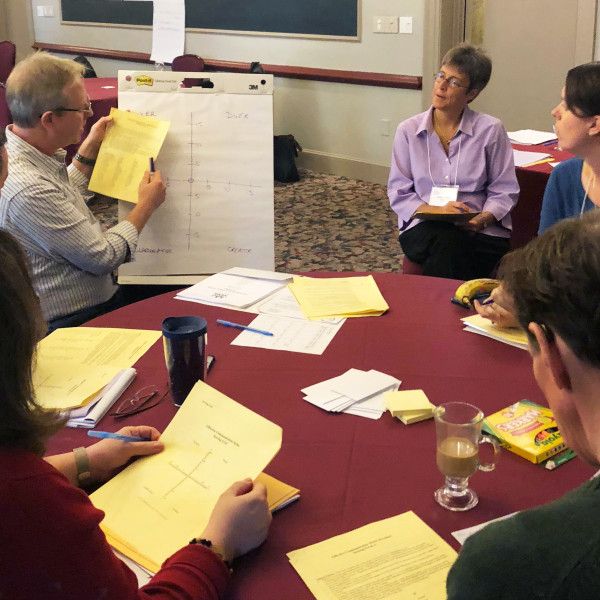 Participants solve mentoring dilemmas and share strategies for success.