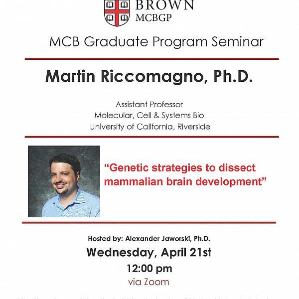 Martin Riccomagno, Ph.D. (University of California, Riverside)