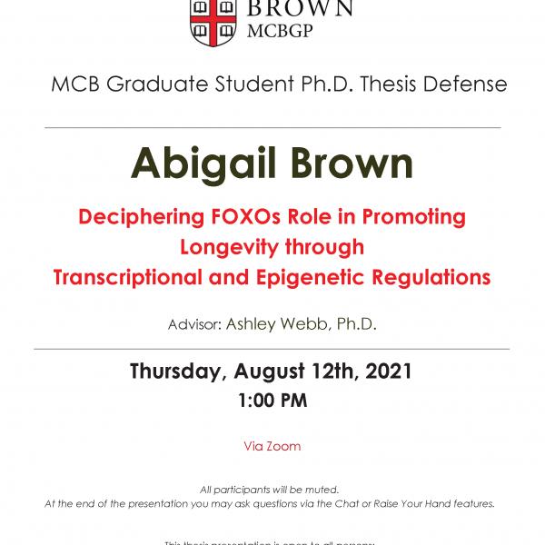 Abigail Brown Thesis Defense