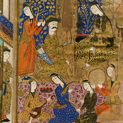 Fragment. ?Leaf? Minassian Collection of Persian, Mughal, and Indian Miniature Paintings. Brown D...