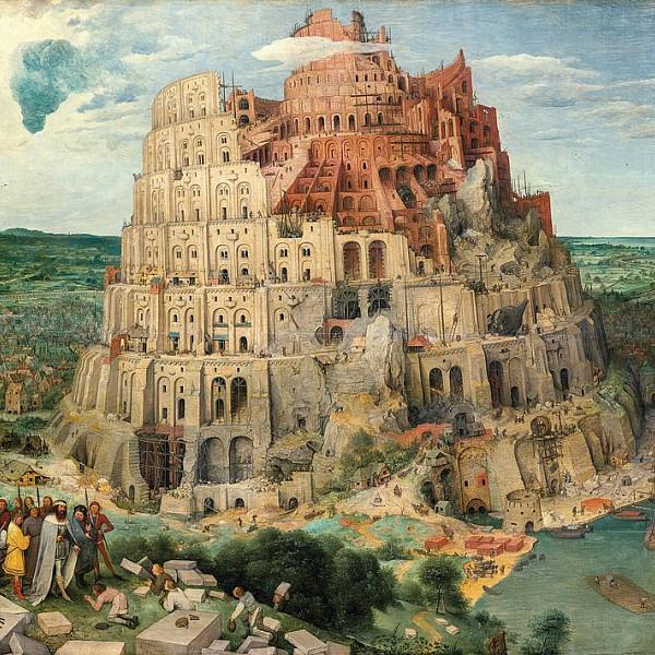 Pieter Bruegel the Elder The Tower of Babel 1563. Courtesy of Kunsthistorisches Museum Vienna Pic...