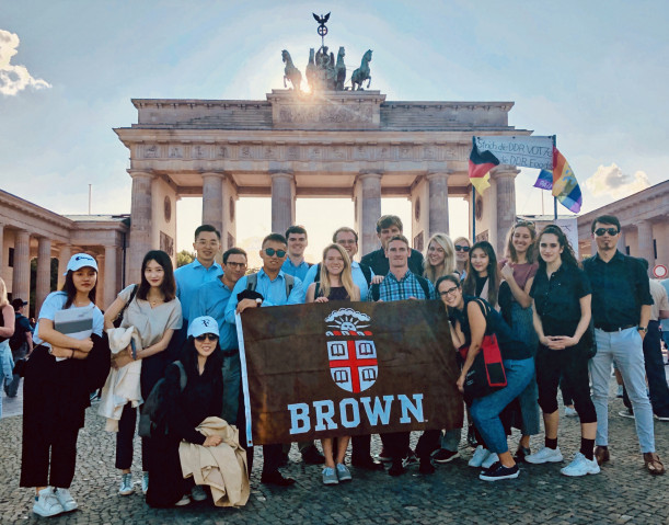 Brown MPA students during the Global Policy Experience in Berlin