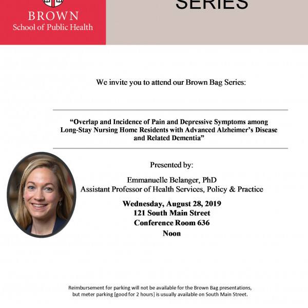 Emmanuelle 'Emma' Belanger will be presenting a Brown Bag on Wednesday, August 28 at Noon in Conf...