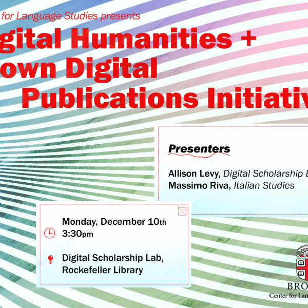 Digital Humanities Workshop Dec 2018
