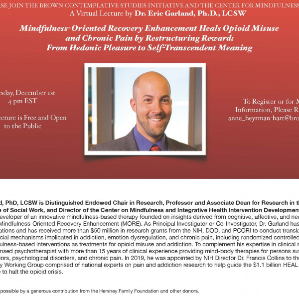 Lecture by Dr. Eric Garland