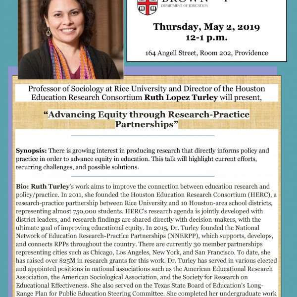 flyer for Ruth Lopez Turley lunch lecture