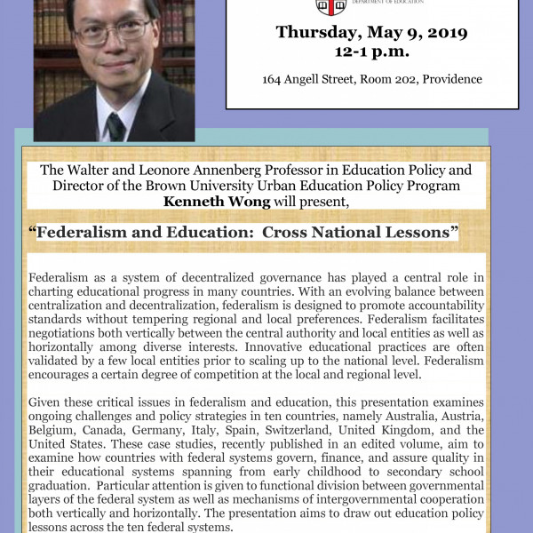 flyer for Dr. Wong's lunch talk