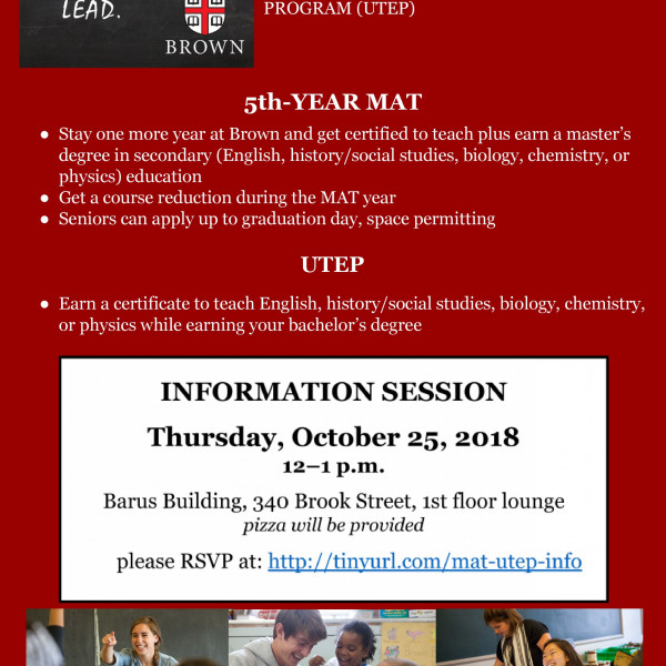 flyer for 10-25-18 5th-Year MAT/UTEP Information Session