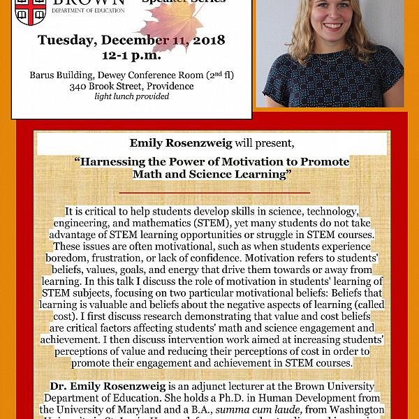 Rosenzweig lunch talk flyer