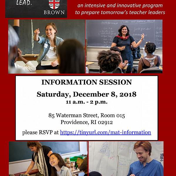 flyer for 12-8-18 information session