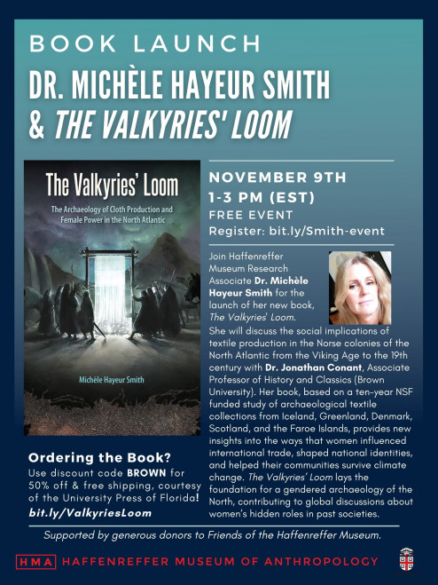 (Event Poster) Book Launch: Dr. Michèle Hayeur Smith &The Valkyries' Loom