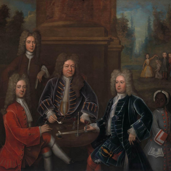 Elihu Yale; William Cavendish, the second Duke of Devonshire; Lord James Cavendish; Mr. Tunstal; ...