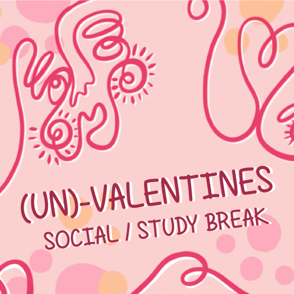 Un/valentines Day Social and Study Break at the LGBTQ Center, February 14th from 2-4:00pm