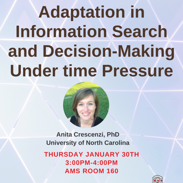 Brown Center for Biomedical Informatics Presents Dr. Anita Crescenzi: Adaptation in Information S...